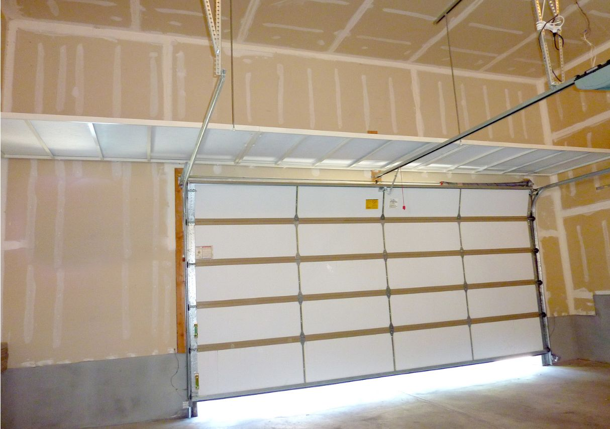 We can do continuous overhead shelving from wall to wall.