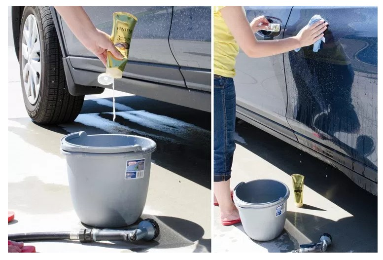 WASH YOUR CAR WITH HAIR CONDITIONER