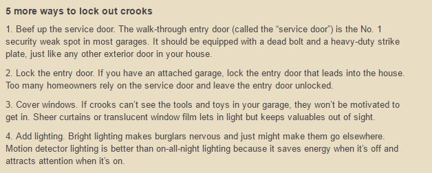 For more information on these ideas and additional tips go to  The Family Handyman .
