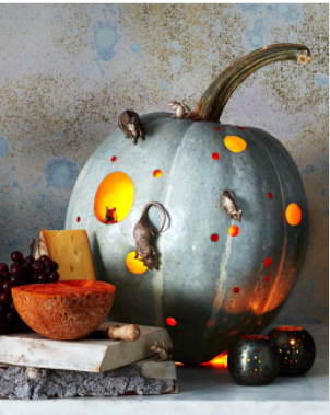 The instructions and other pumpkin ideas are at  Martha Stewart .