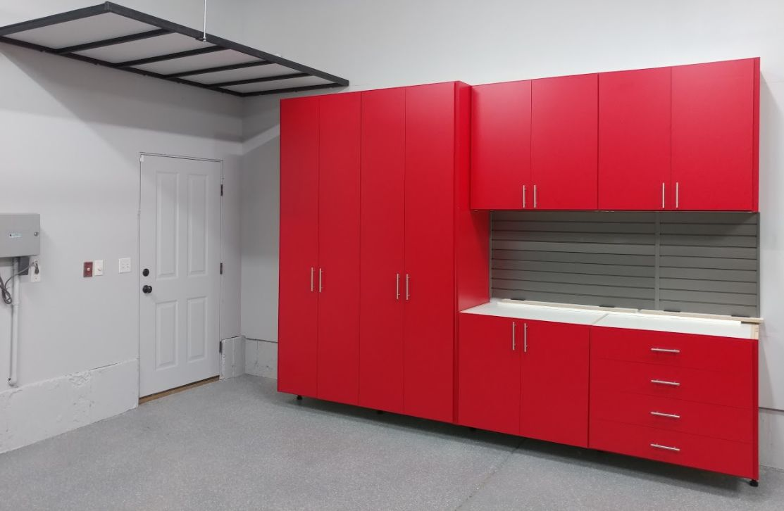 Do you love color? We offer a huge variety of colors for cabinets and shelving! FUN!!