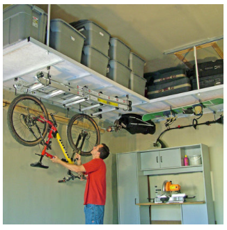 Overhead storage  in your garage!
