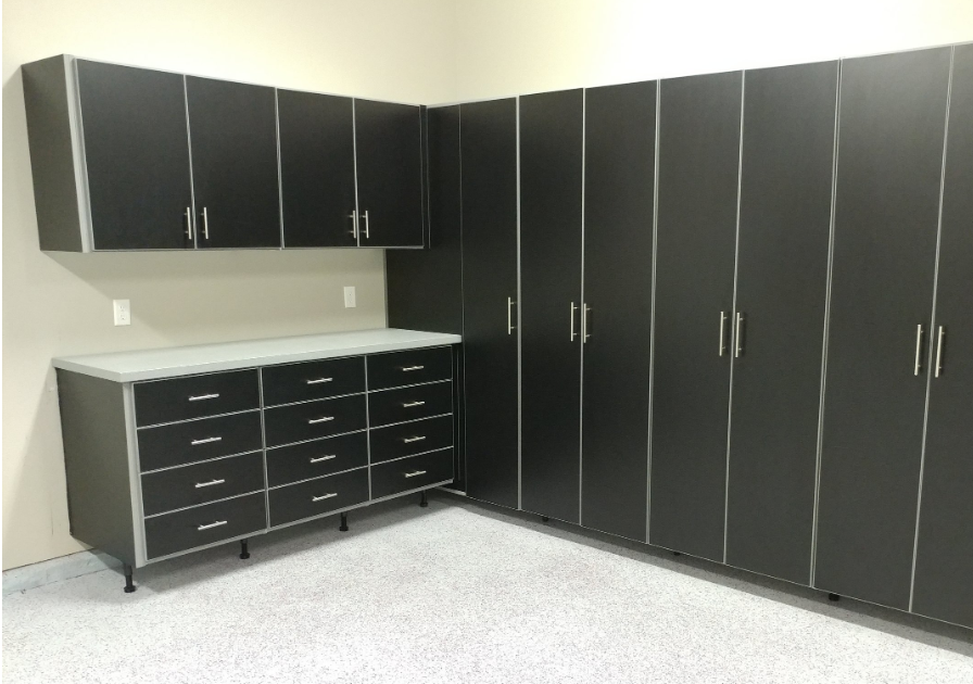 We have custom built  cabinets  that fit your needs exactly that are reasonably priced to also fit your budget. These are perfect for your garage, laundry room, craft/hobby room, mud room - you name it. That is the best part about being customised!