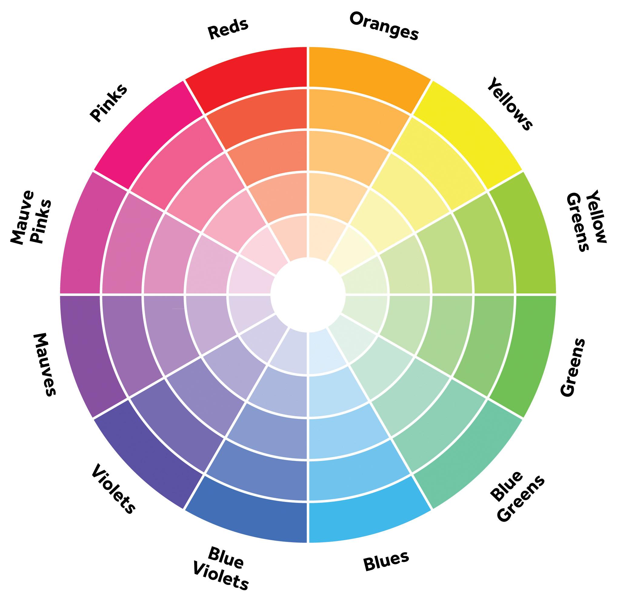 Colour wheel from Pinterest.com