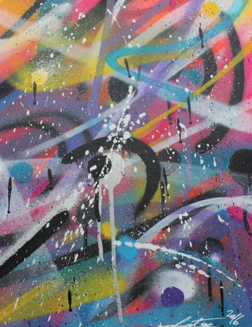 'Untitled I'   Zokatos  30cm x 40 cm  Spraypaint on Canvas  £360