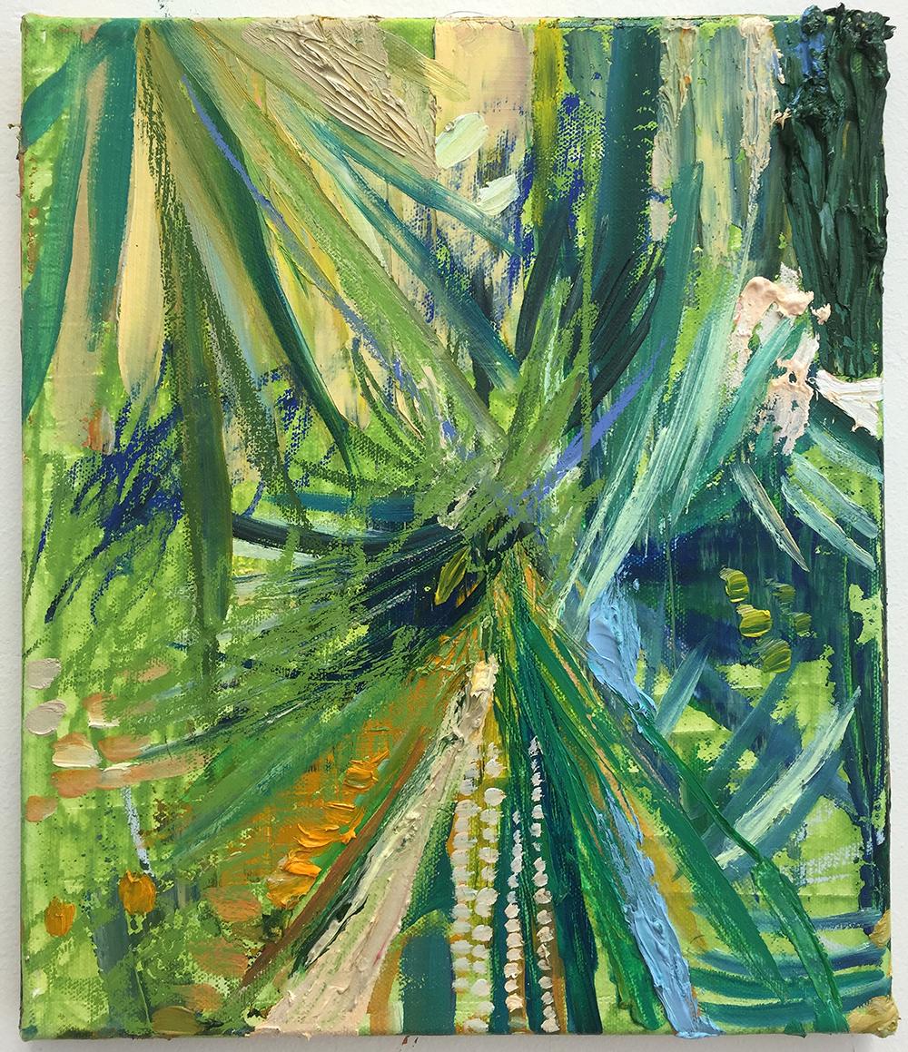 'The Garden'  Oil on Canvas  30cm x 25cm  2016  £580