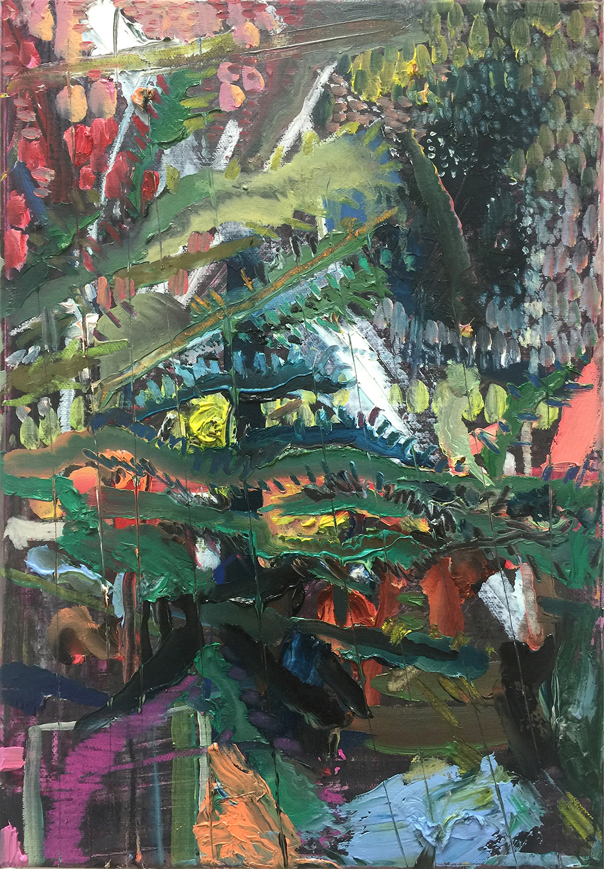 'Cactus'  Oil on Canvas  35.8 x 25cm  2016  £600