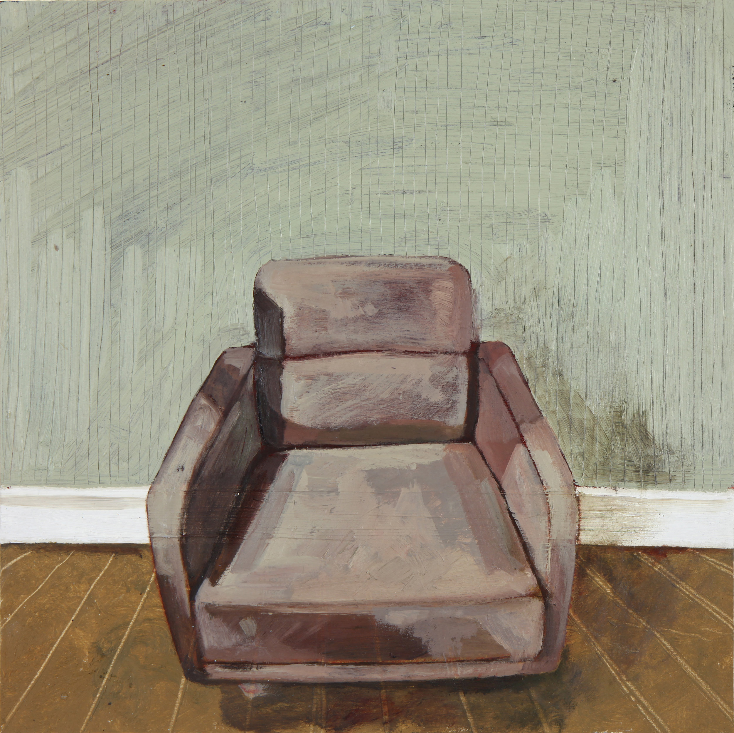 'Chair View 1'  - 2016  20x 20m  Oil on Board    £240