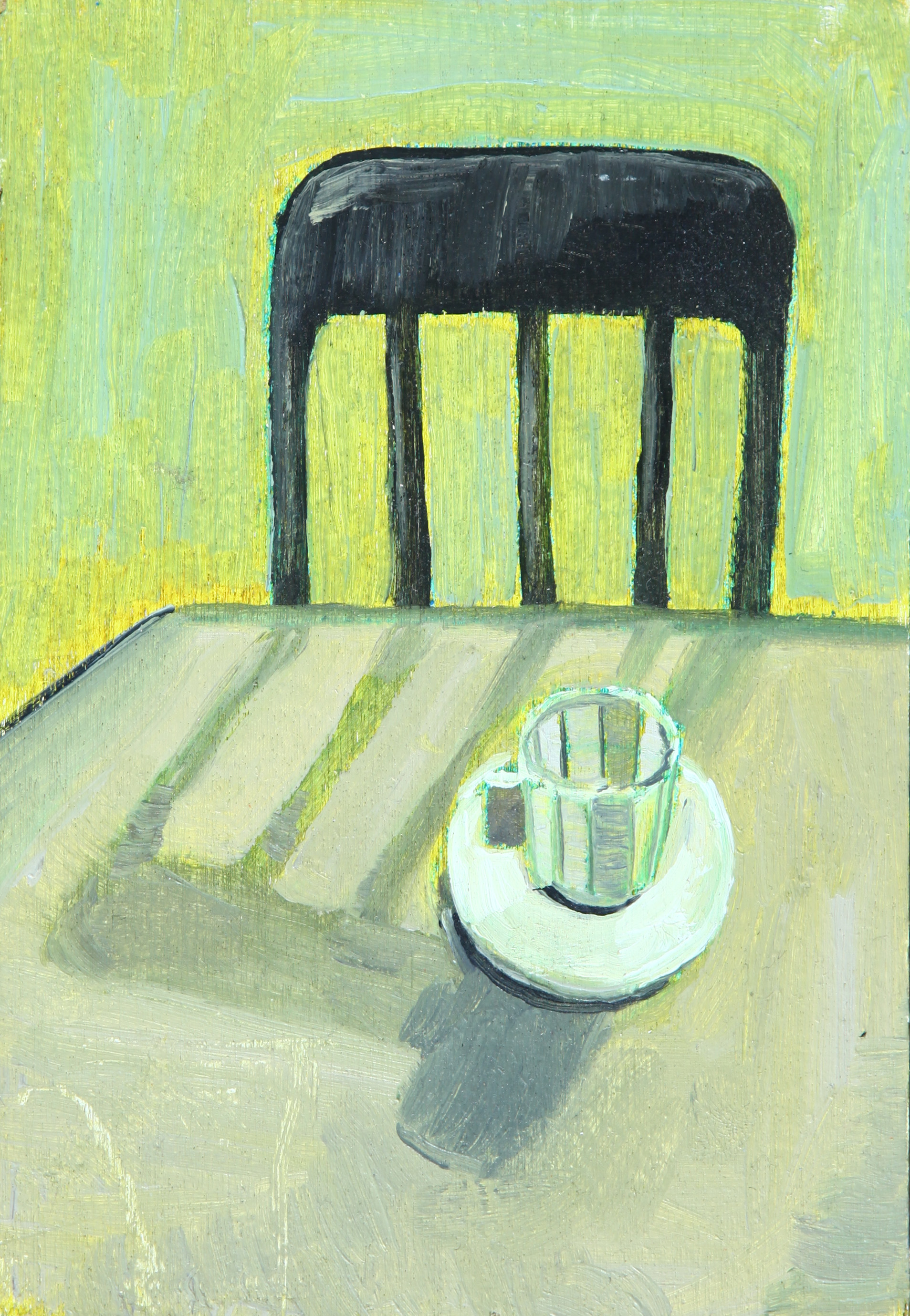 'Cup Of Tea'  - 2017  14x 9cm  Acrylic on Board    £312