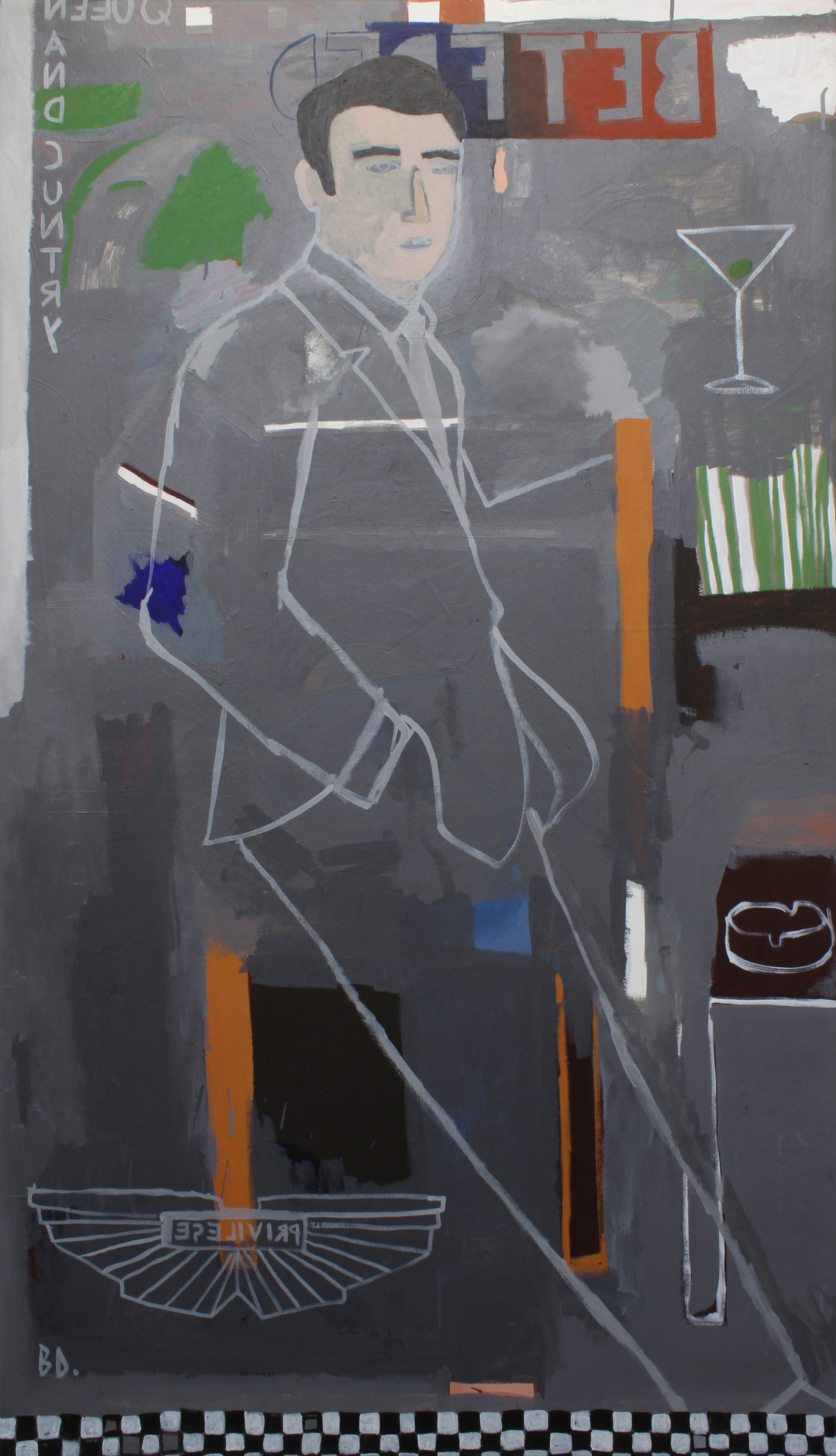 Imperial Nostalgia - Grey Britain (Just Another Murderous Toff)  165 x 95cm  2019