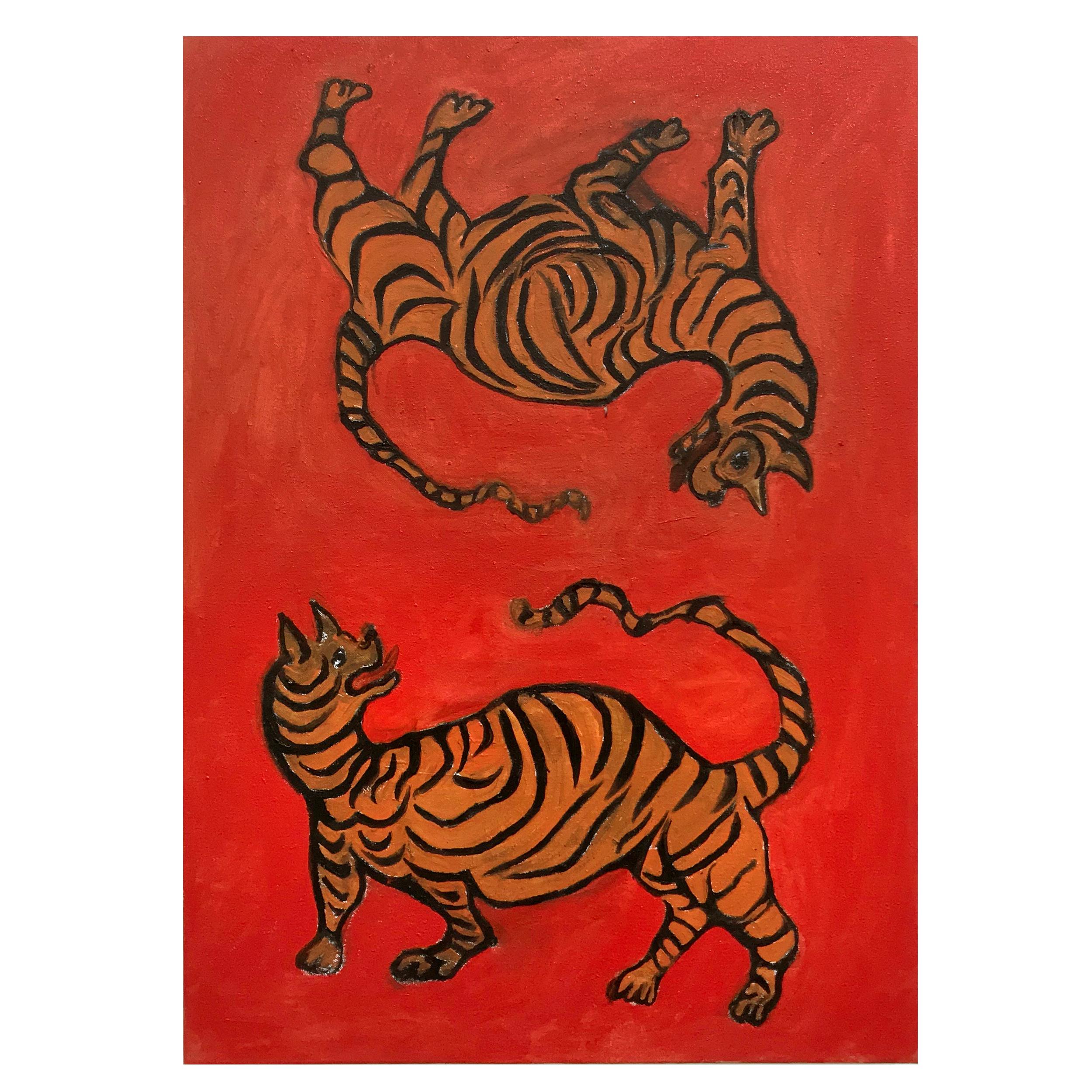 'Tiger, Tiger I Got You'   40x70cm  Oil on Canvas  2019