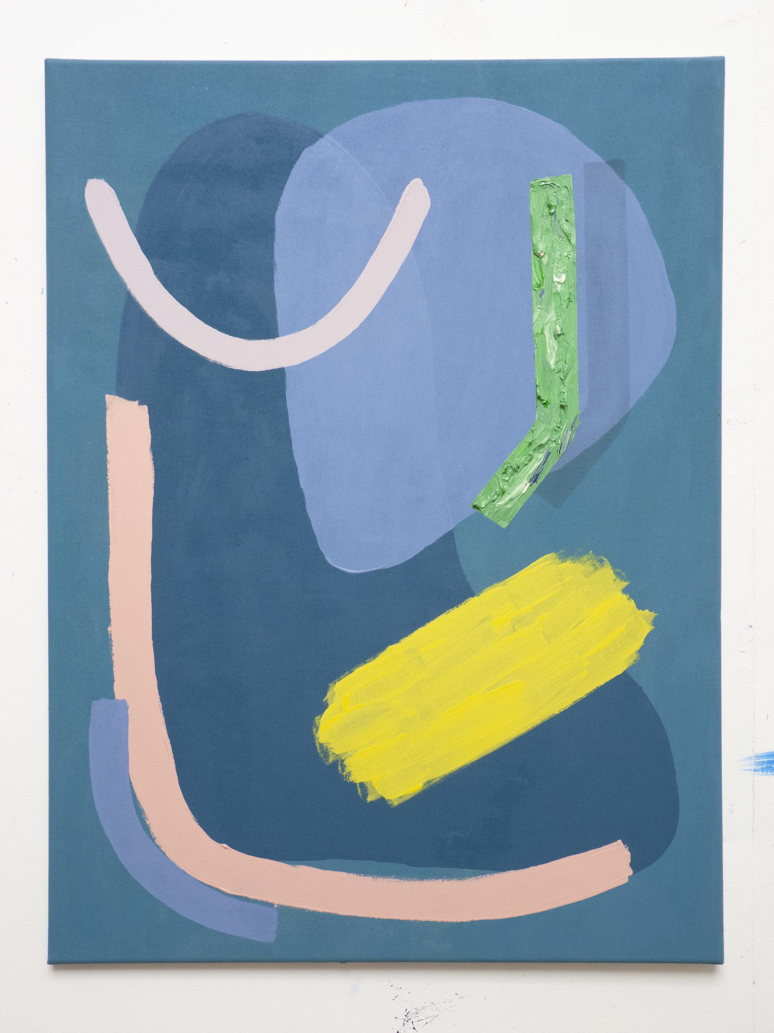 The Jazz Bar   Acrylic, oil, charcoal and colour pencil on canvas  60cm x 80cm