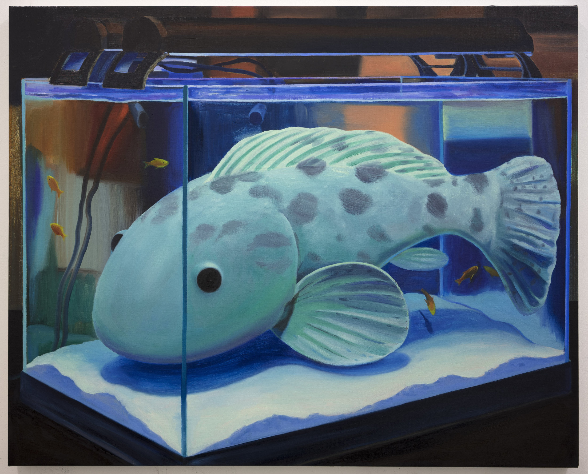 Fish Tank  Oil on linen  86 x 105 cm  2018