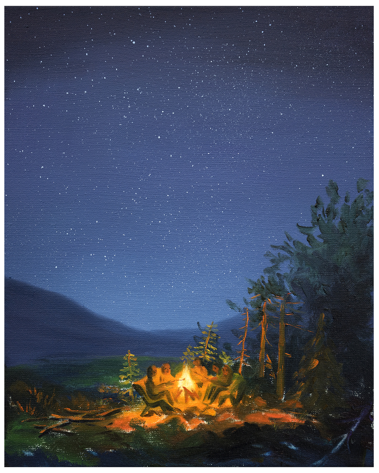 Campfire  Oil on linen  50x 40 cm  2018