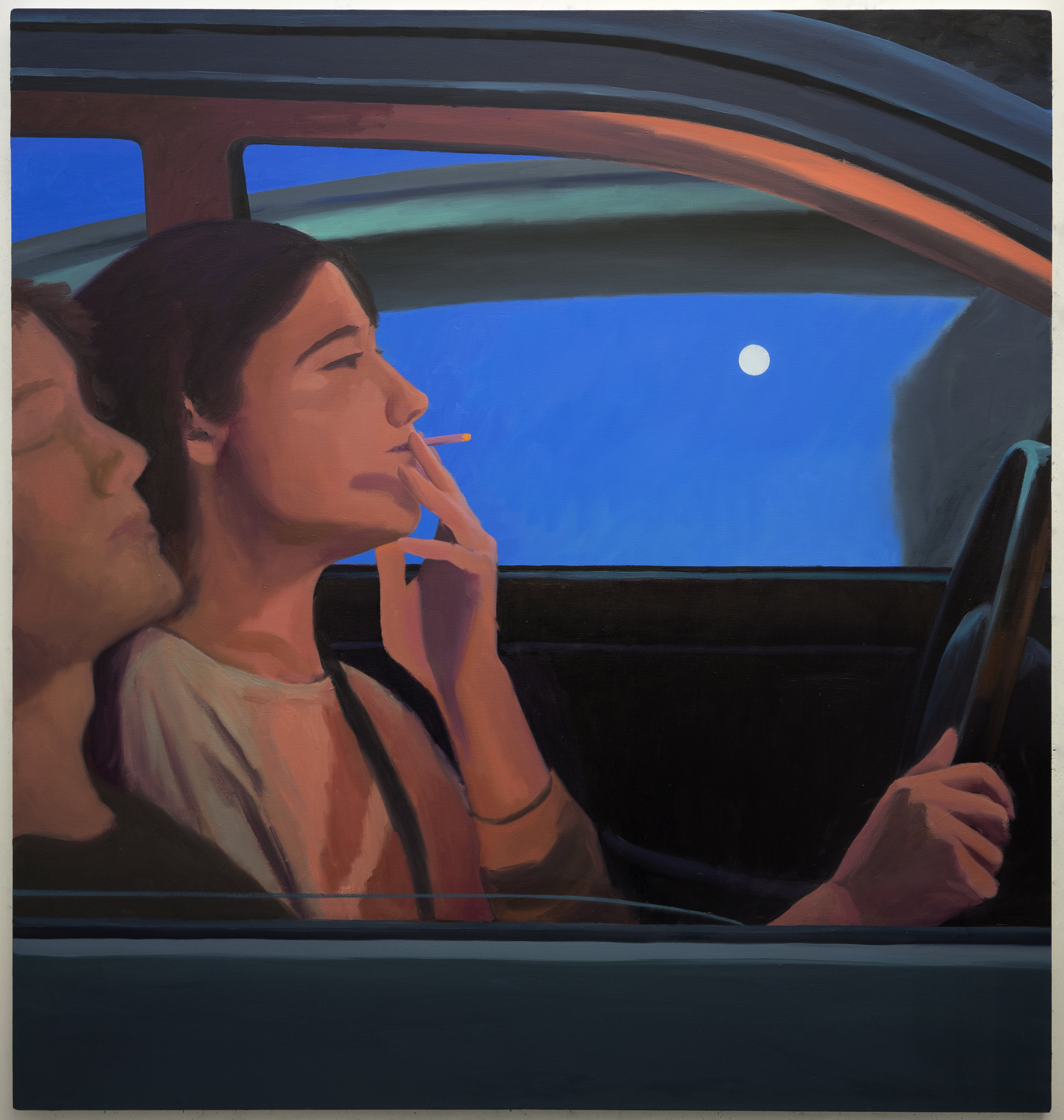 Night Drive  Oil on linen  170 x 160 cm  2019