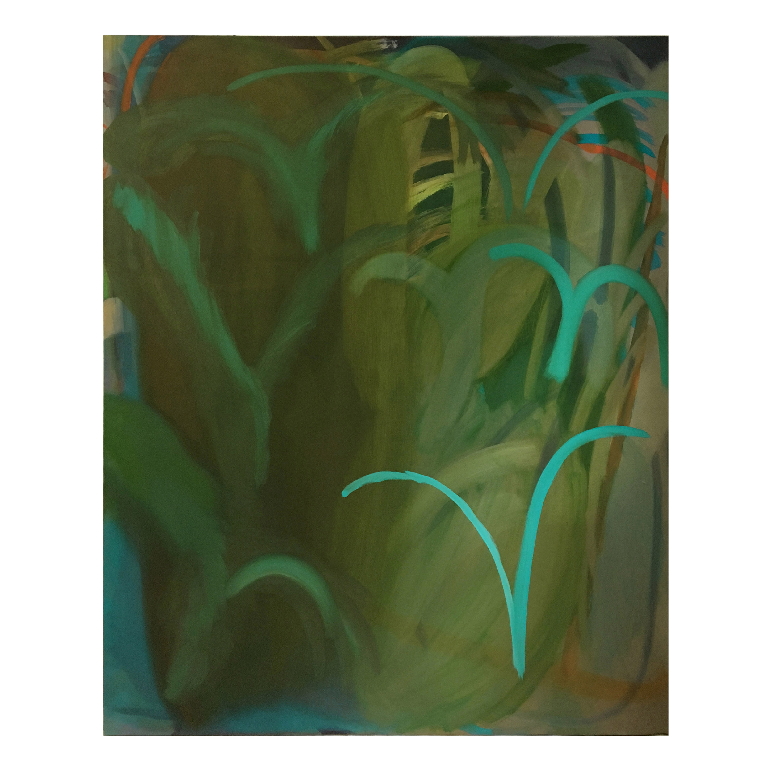 Plitvice Lakes  Acrylic and oil on canvas  183 x 147.5 cm  2018