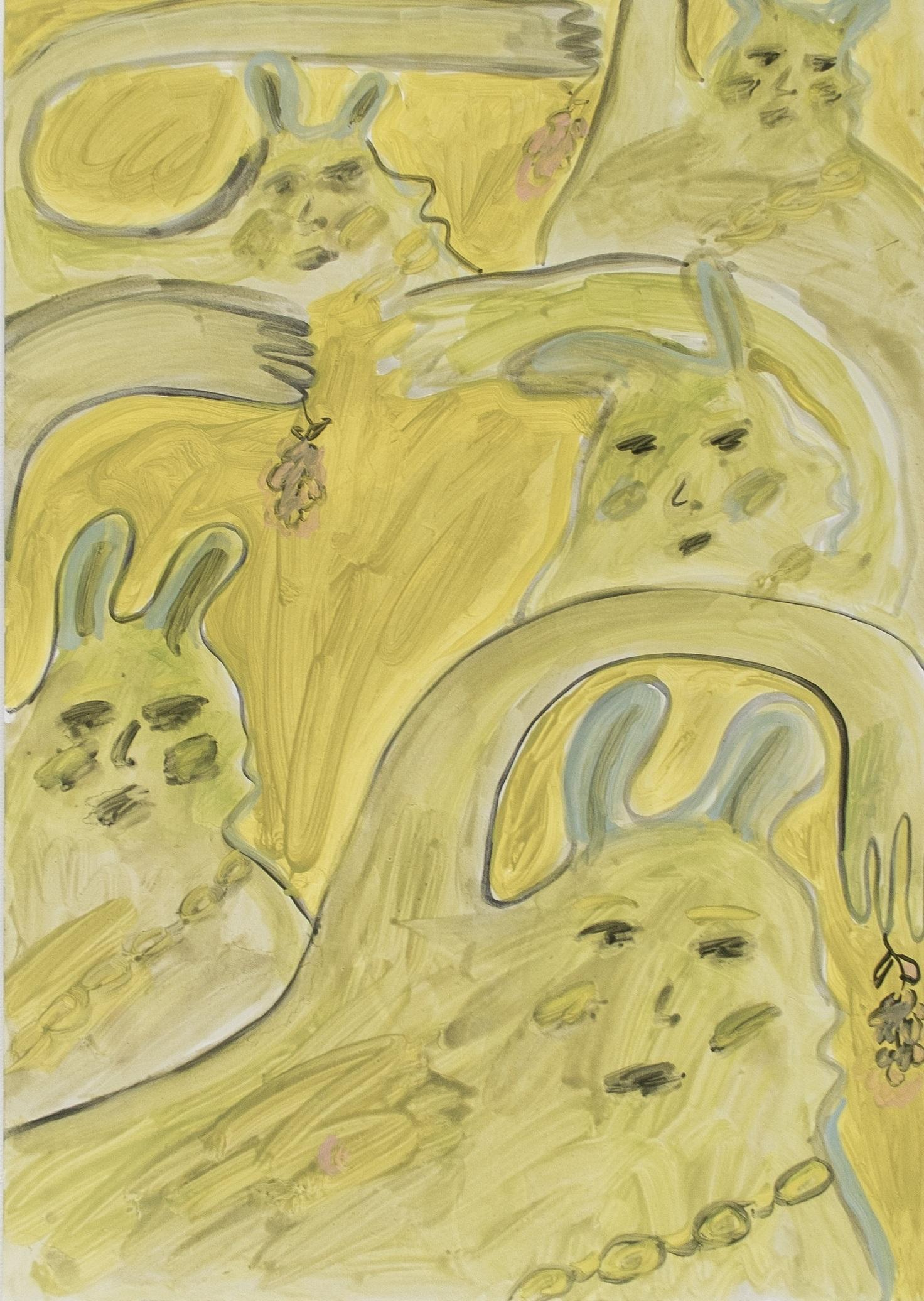 The Little Devils  84 x 60 cm  Oil on Paper