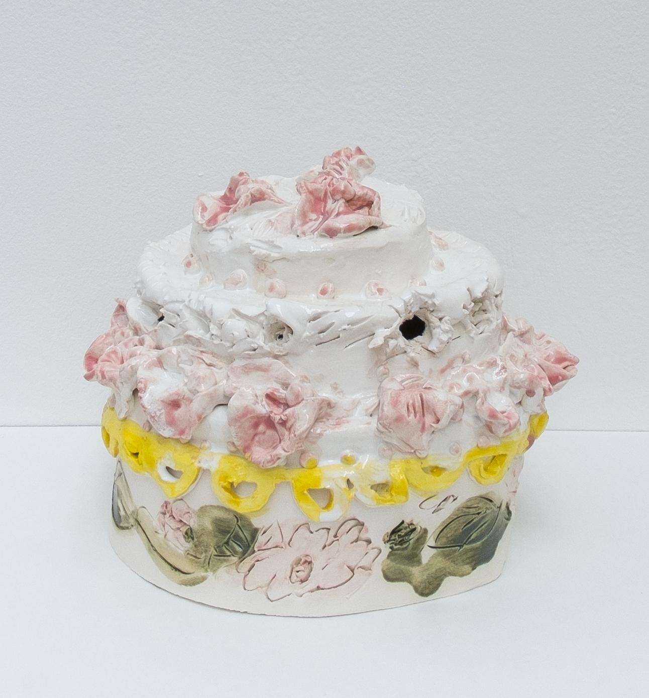 Light Diet Cake  Glazed Ceramics   25 x 24 x 24 cm