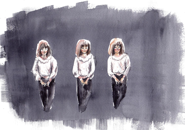cora-marinoff-personal-work-painting-three-sisters-siblings-series-2