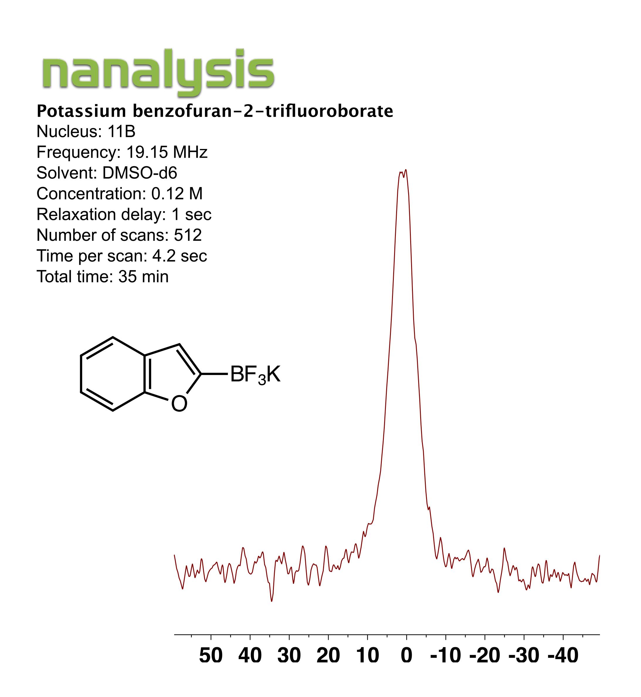 Potassium benzofuran-2-trifluoroborate