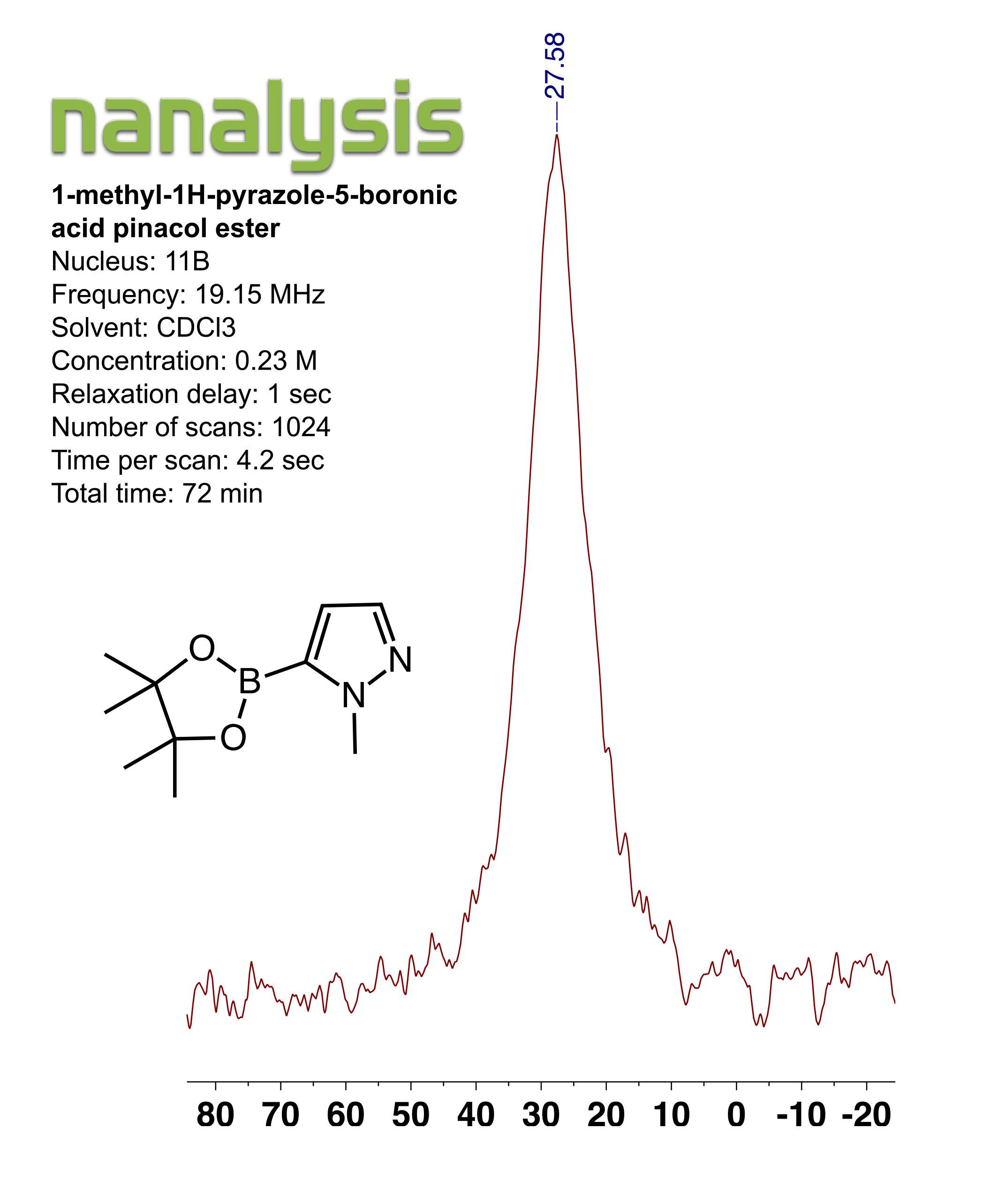 1-methyl-1H-pyrazole-5-boronic acid pincol ester
