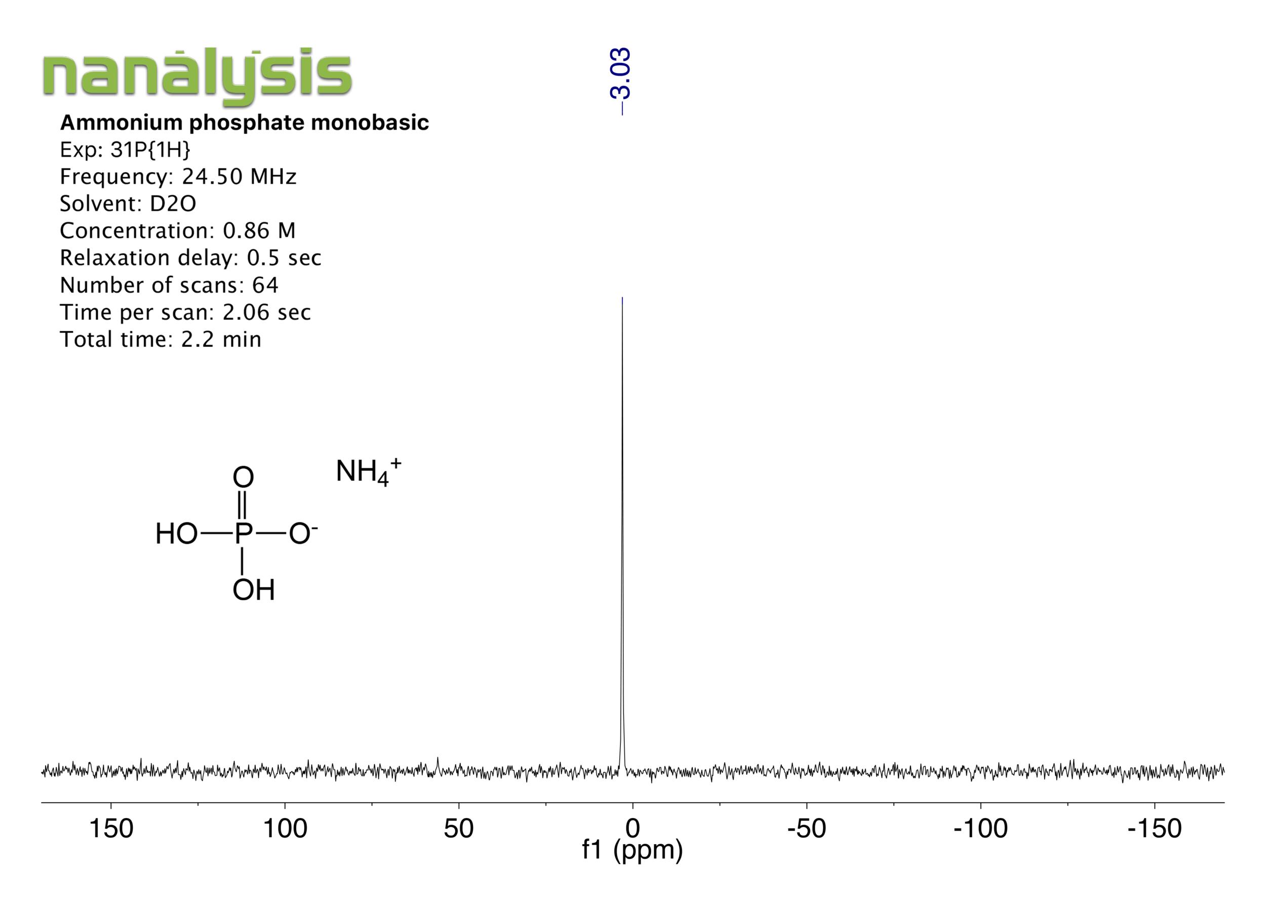 ammonium phosphate monobas_31P_benchtopNMR.png
