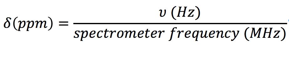 Figure 2.  ppm  scale calculation