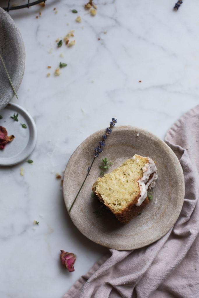Herbs de Provence & Rose Olive Oil Cake