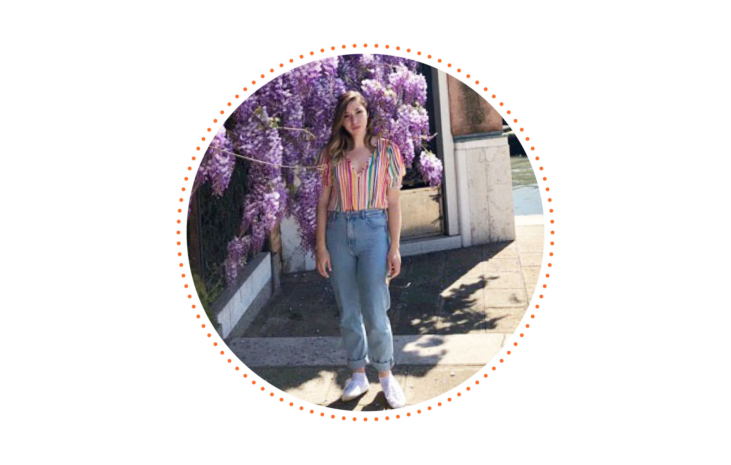 """""""Gabby"""" - Position: Freelance Graphic DesignerFavorite Food: PizzaHobbies: Playing tennis, traveling and drawingAge: 26"""