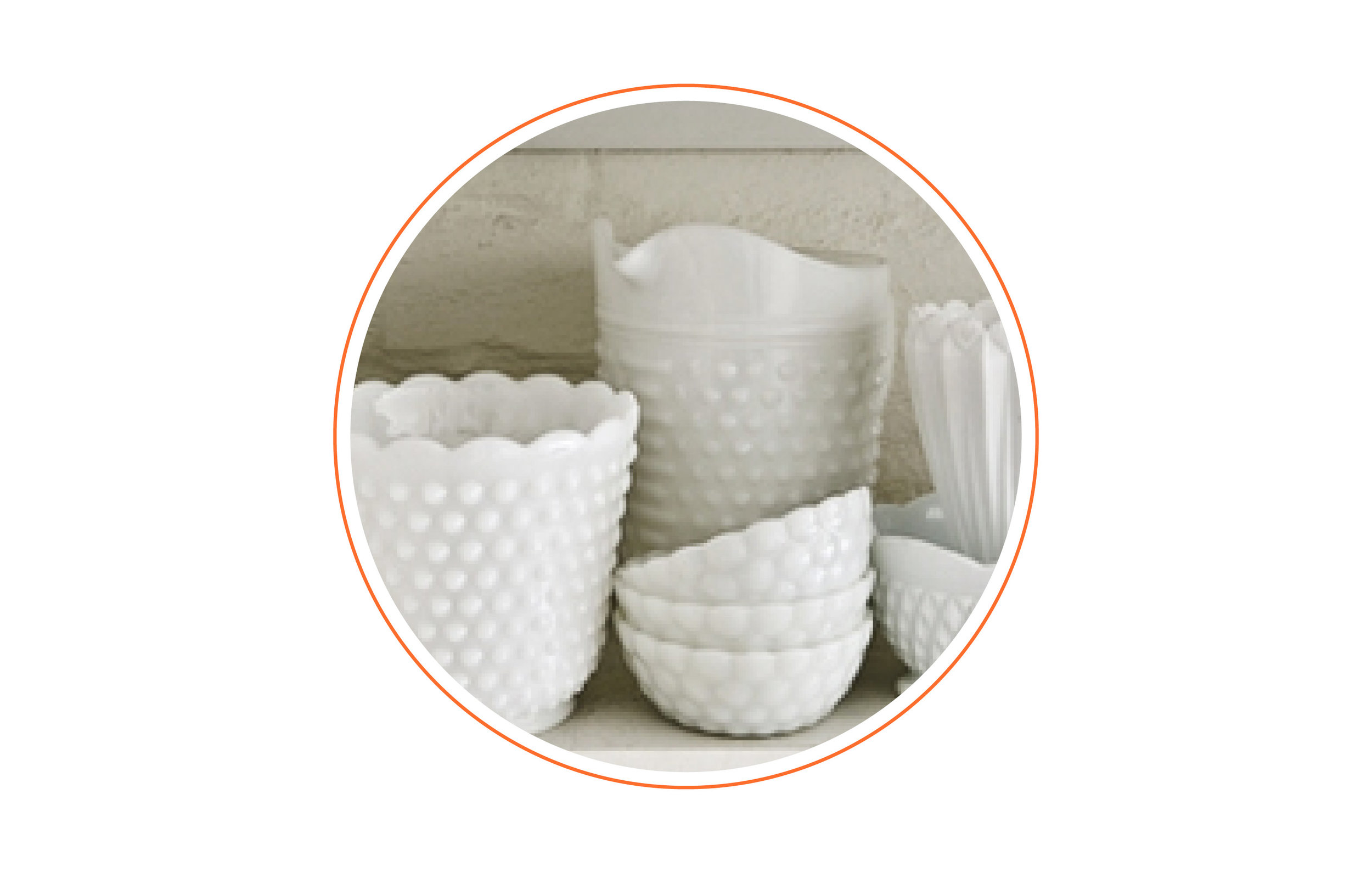 Little known fact? - I collect anything that is hobnail milk glass