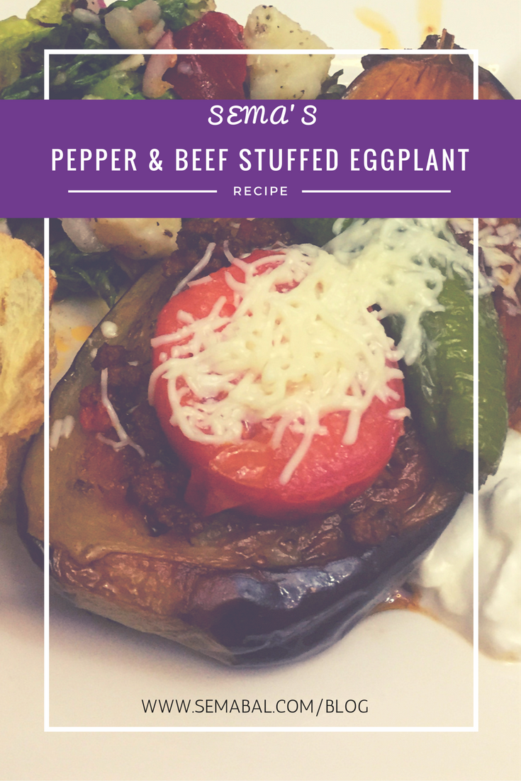 Pepper and beef eggplant