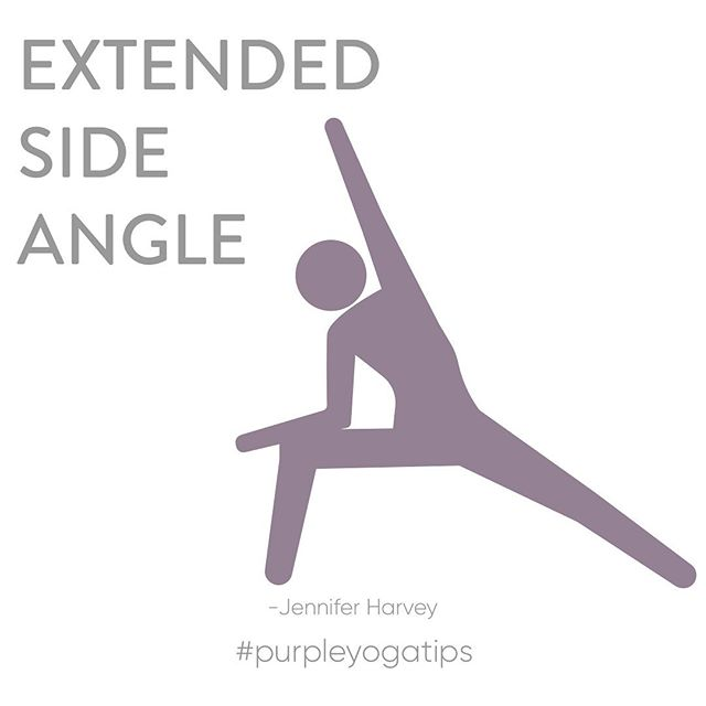 Happy Tuesday Purple Fam💜 For this week's #purpleyogatips , our instructor, Jennifer Harvey, is breaking down Extended Side Angle. ⠀⠀⠀⠀⠀⠀⠀⠀⠀⠀⠀⠀⠀⠀⠀⠀⠀⠀⠀ ⠀⠀⠀⠀⠀⠀⠀⠀⠀ Swipe to see! ⠀⠀⠀⠀⠀⠀⠀⠀⠀ Was this helpful? Comment below for any questions about Extended Side Angle and if you're a Purple teacher, Protege or in TT, go ahead  and comment to help answer questions. ⠀⠀⠀⠀⠀⠀⠀⠀⠀ #purplefam💜 #purpleyogatips #tuesdaytips