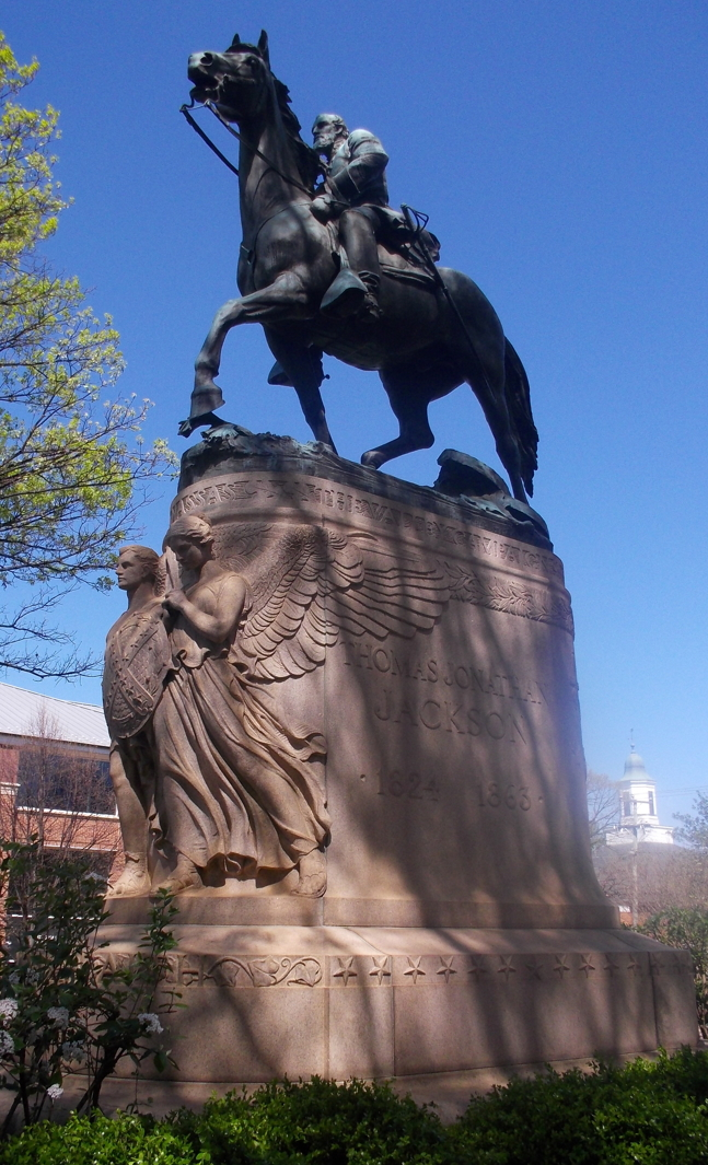 Charlottesville Monument General Jackson on his horse Little Sorrel.JPG