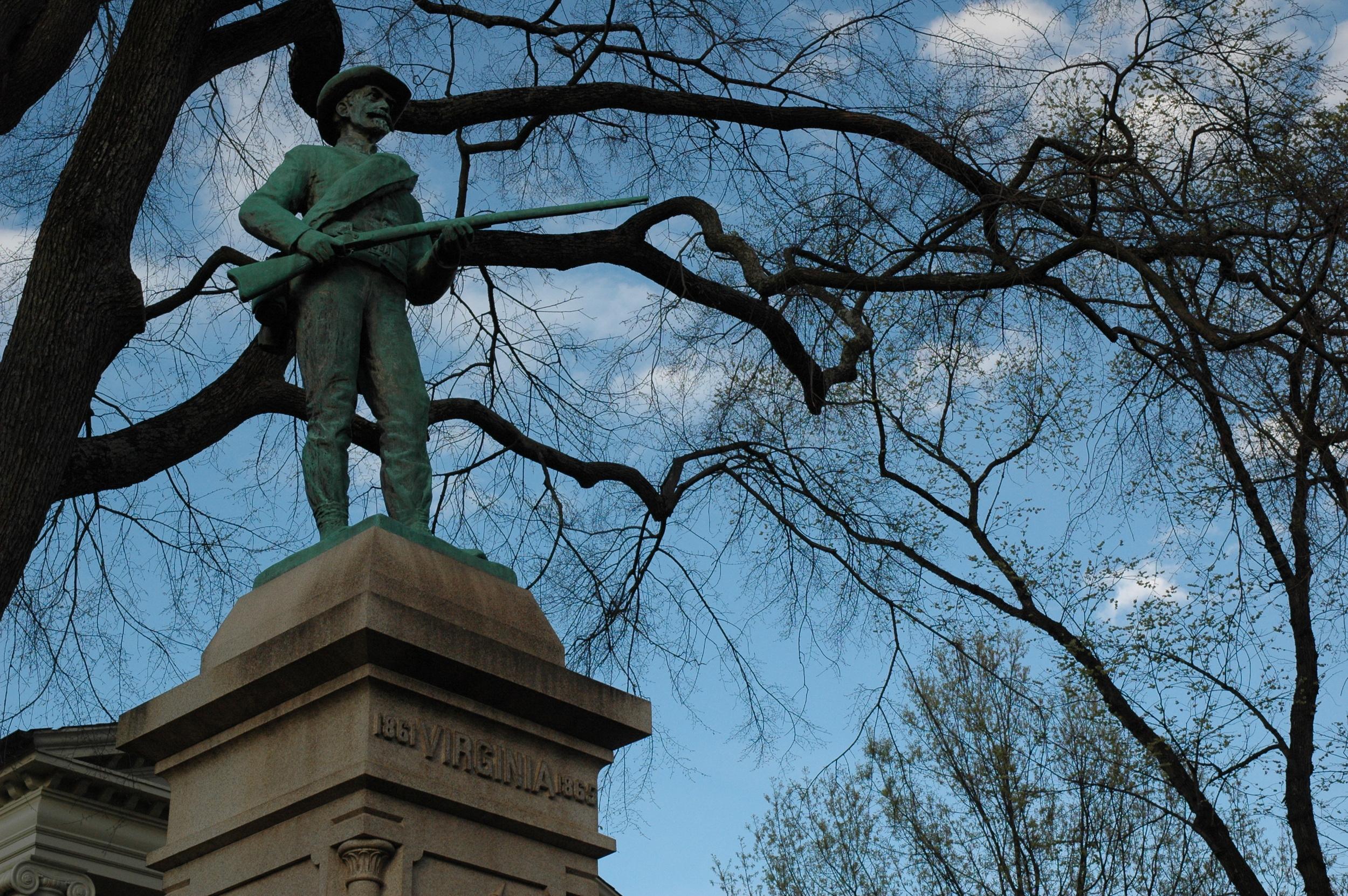 The Virginia Court Square Cville Monument Statue.JPG