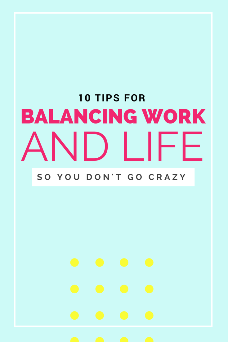 10 tips for balancing work + life when working from home!