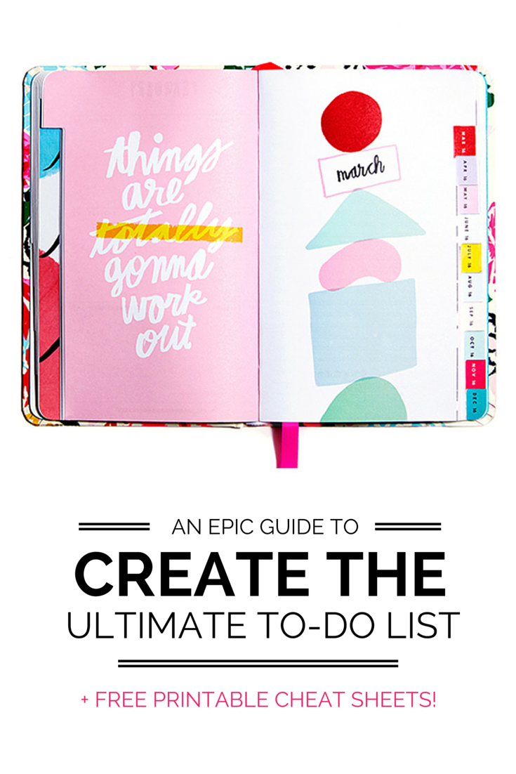 An epic guide to creating the ultimate to-do list! Effectively organize your tasks to accomplish your goals, get rid of overwhelm and GET SHIZ DONE!