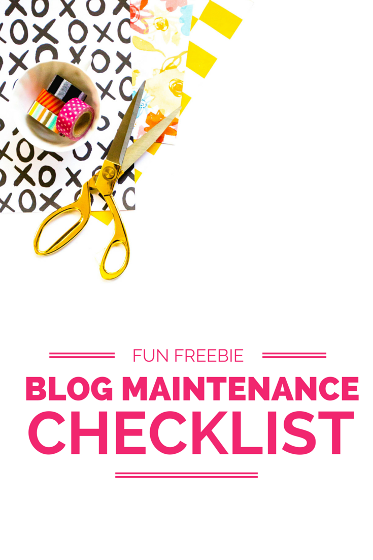 Fun Freebie: Blog Maintenance Checklist | Everything you need to do in order to keep your blog + website functioning correctly! | Wonderlass