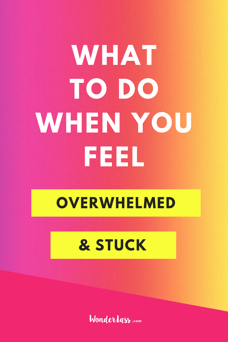 Here's What to Do When You Feel Overwhelmed & Stuck in Your Business. Get out of overwhelm fast! #goalsetting #productivitytips #todolist #savetime #businessplanning