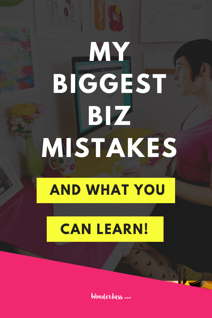 Click Through to Learn About My Biggest Biz Mistakes (& What YOU Can Learn!) #businesstips #onlinemarketing #emaillist #passiveincome #contentmarketing