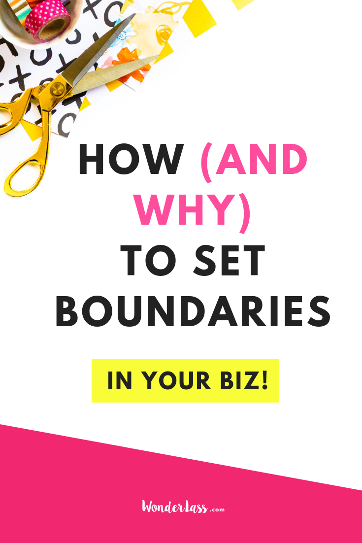 how (and why) to set boundaries in your business. #entrepreneurmindset #selfcaretips #mentalhealth #selfcareideas #businesstips