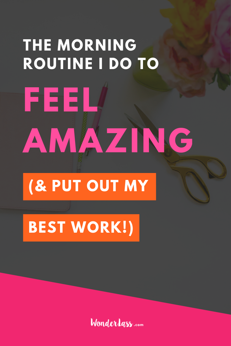 Here's the morning routine I do as an entrepreneur in order to feel amazing and put out my best work. #entrepreneurmindset #selfcaretips #mentalhealth #selfcareideas #businesstips