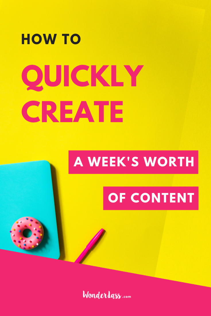 How to quickly create a week's worth of content for your business