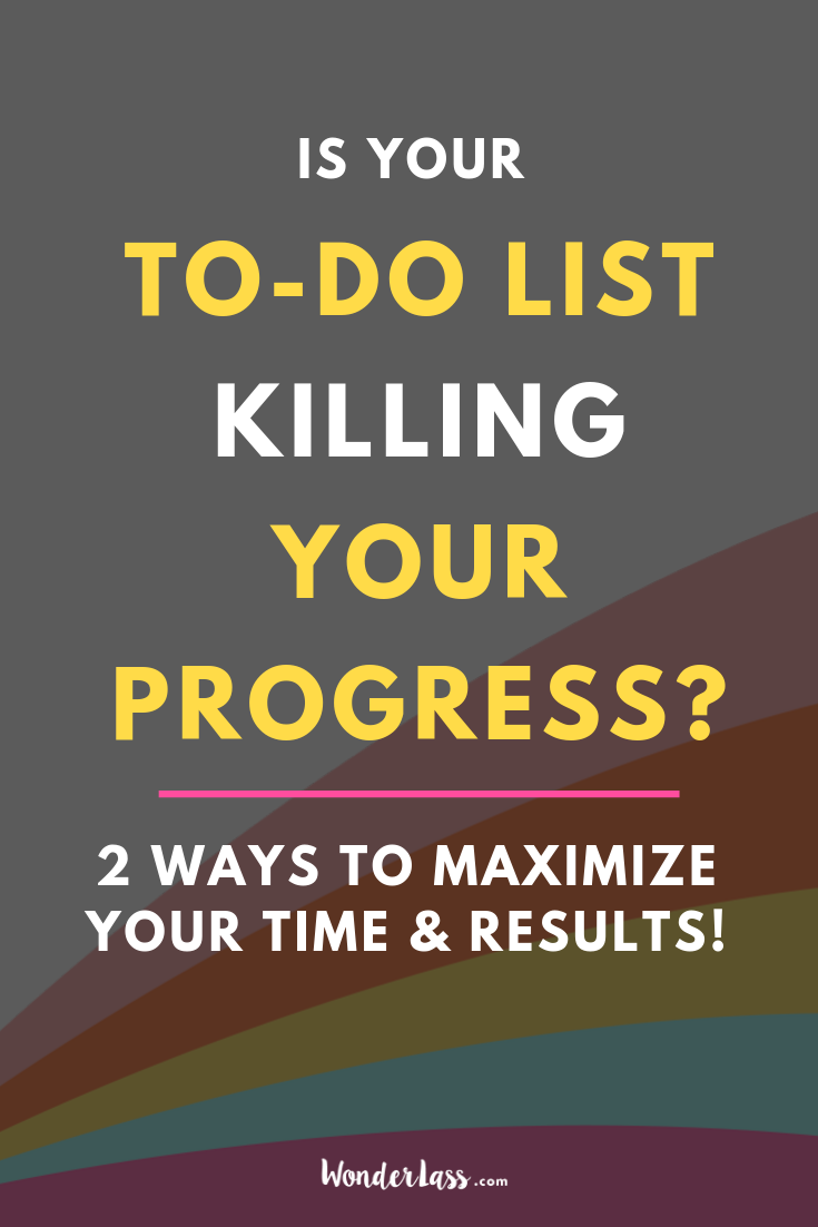 is your to-do list killing your progress? Click through to learn how to prioritize your tasks so that your to-do list always moves you FORWARD, not back. #goalsetting #productivitytips #todolist #savetime #businessplanning