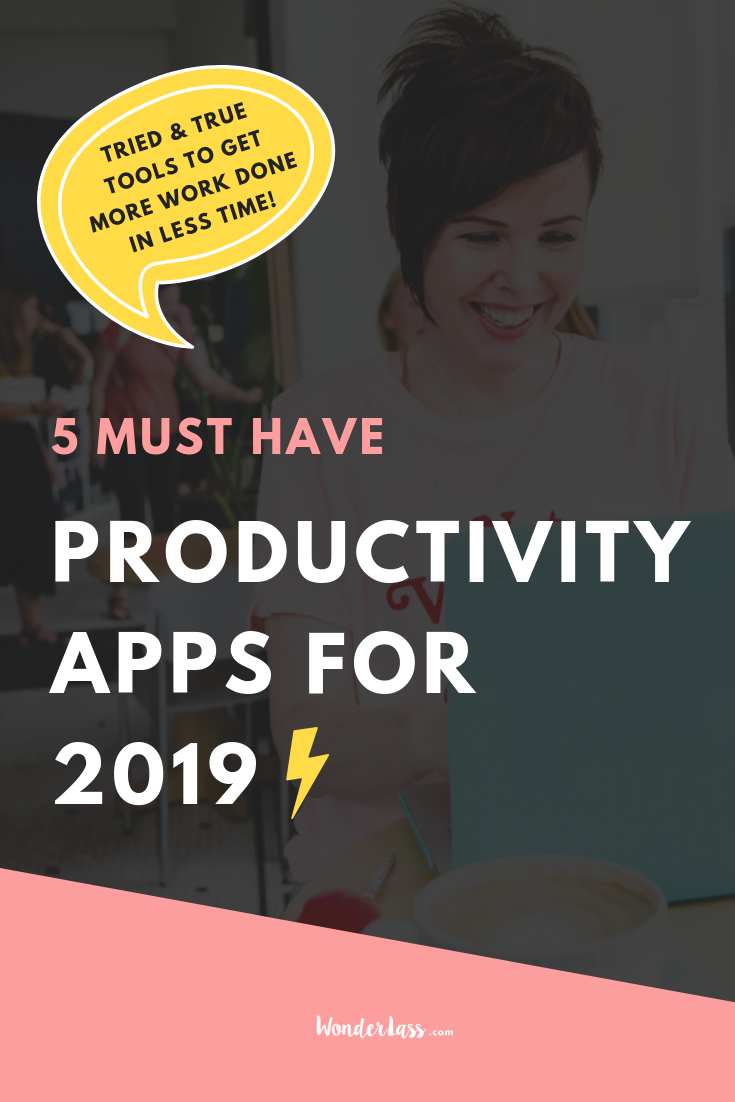 Click through to check out the must-have productivity apps for 2019! These are the apps I use to save time, be more productive and to grow my business more. #goalsetting #productivitytips #todolist #savetime #businessplanning