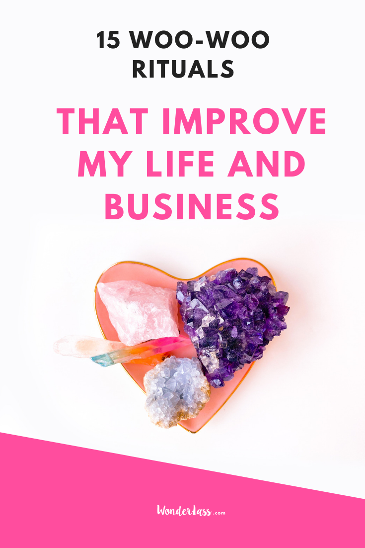 15 Woo-woo rituals that improve my life and business. Why Inner work is what's going to take you to the next level faster than anything.  #entrepreneurmindset #selfcaretips #mentalhealth #selfcareideas #businesstips