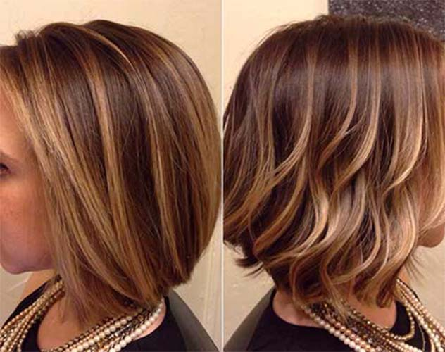 Balayage hair coloring straight hair and Balayage hair coloring curly hair