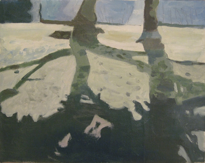 """The Path   , 1998,Oil on Linen, 8"""" x 10"""""""