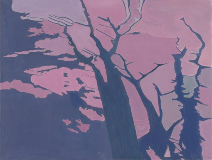 "Shadows on the Grass II   , 1998,Oil on Linen, 26"" x 40"""
