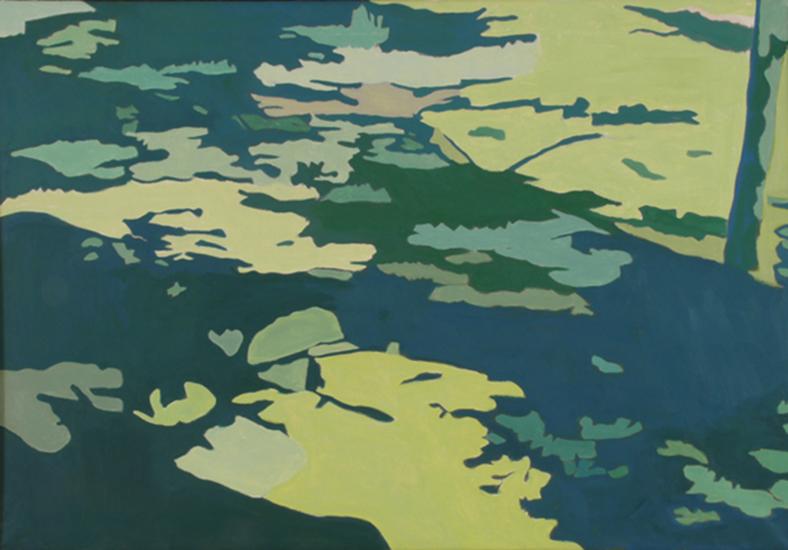 "Shadows on the Grass   , 1997,Oil on Linen, 26"" x 36"""