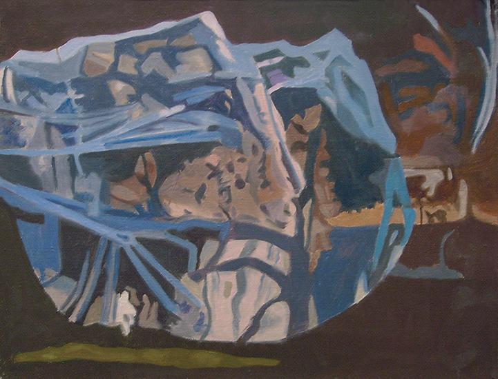 "Shaded Apple Tree   , 1991,Oil on Linen, 12"" x 16"""